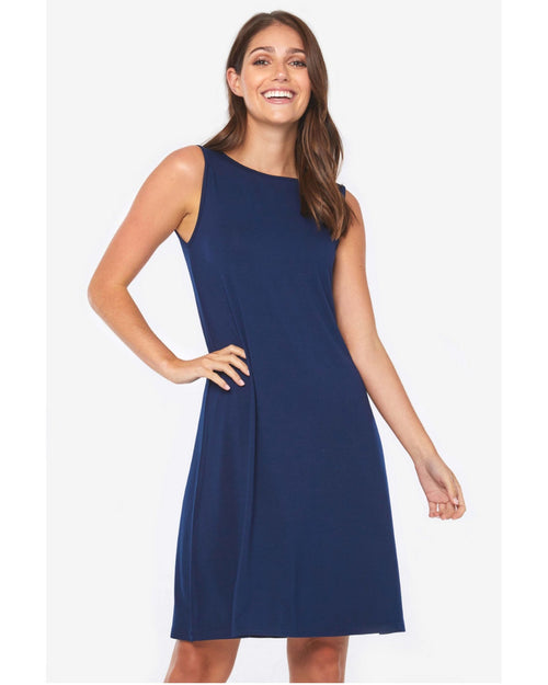 Bamboo Adele  Dress - Navy UP to 3XL