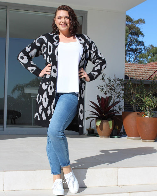 Leopard Cardigan Last One Size 12/14