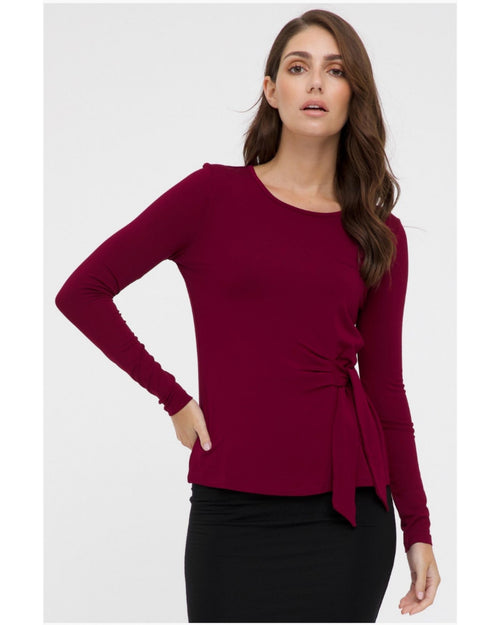 Bamboo Front Tie Top 10-22