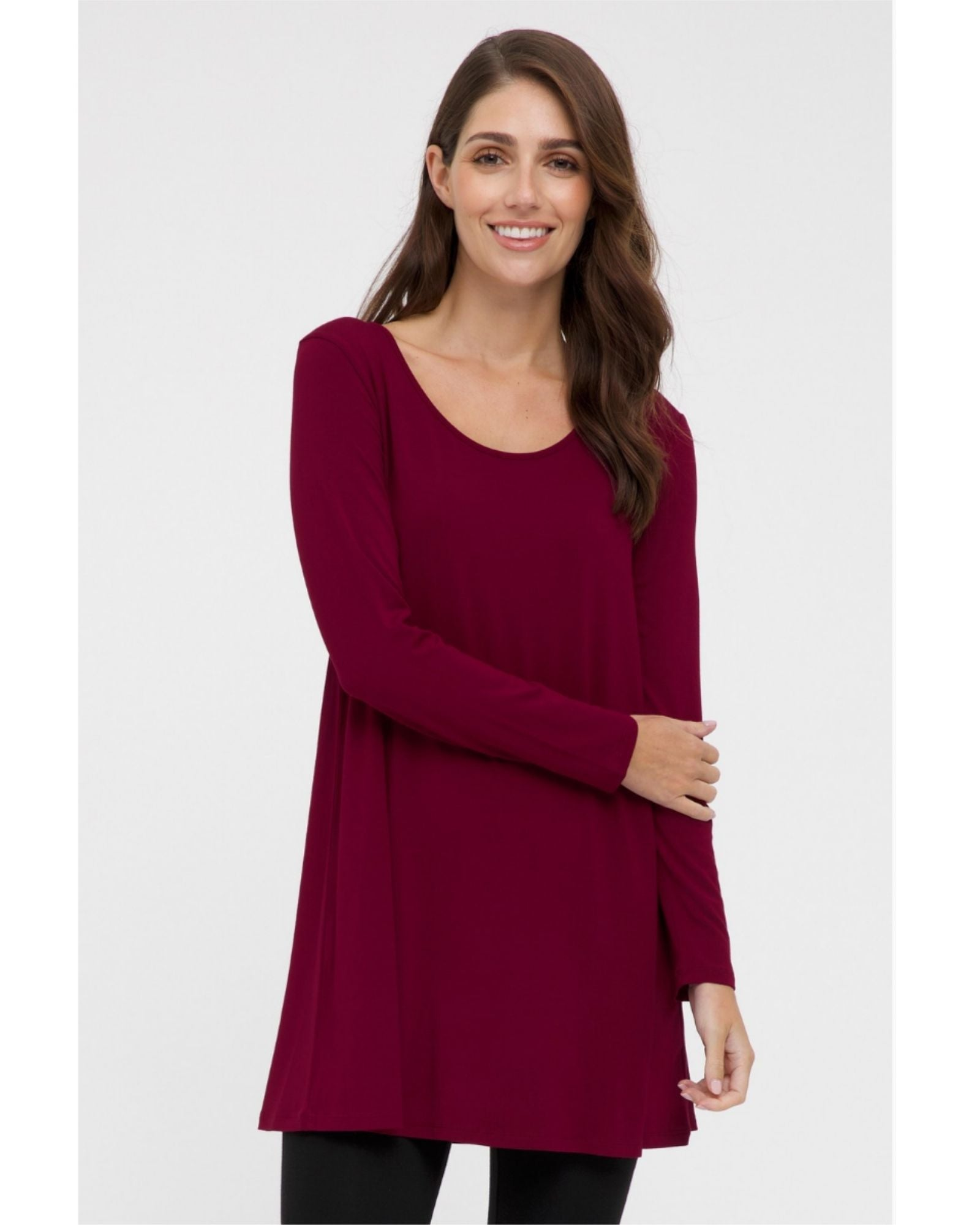 Bamboo Leanne Tunic Red Size 10-24