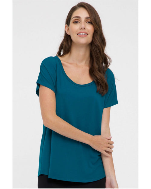 Bamboo Eadie Top -Teal Size 10-22