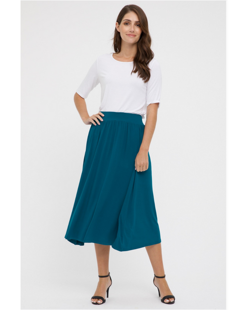 Bamboo Midi Skirt- Teal-Size 10-18 ONLY