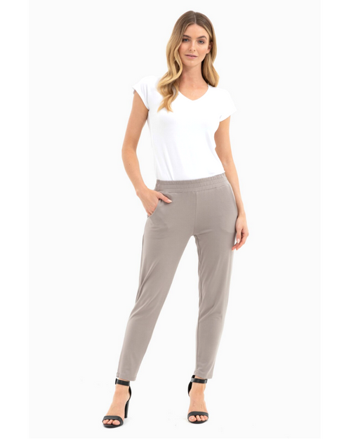 Bamboo Peggy Trouser Stone- Size 10-22