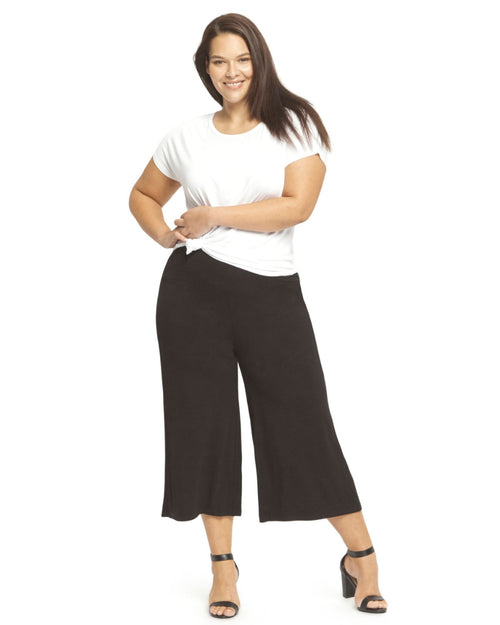 Bamboo Culottes- Black- Size 12-24