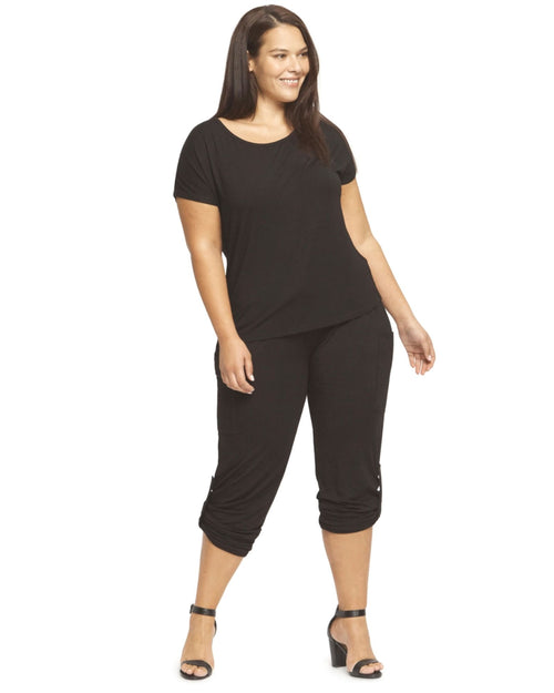 Bamboo Pocket Pants Black - 12-24