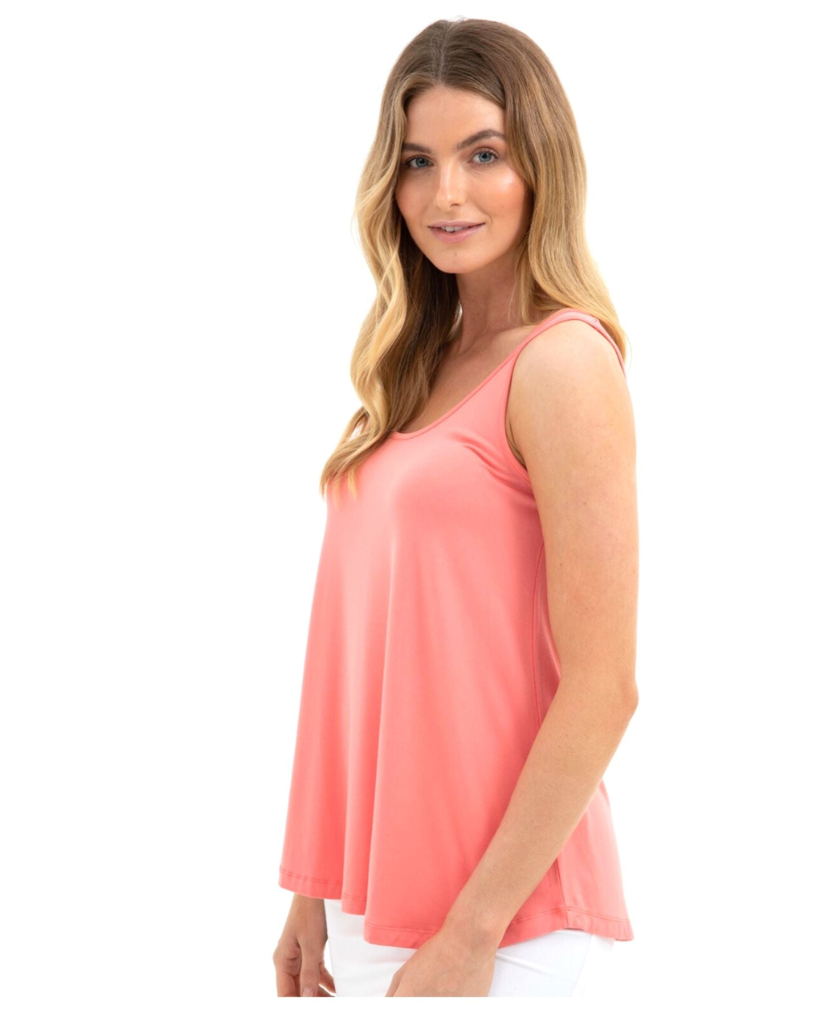 Relaxed Singlet -Coral -Size 10-22