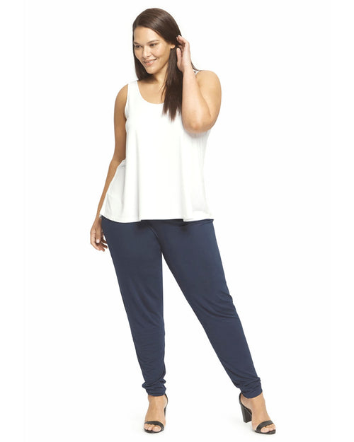 Softline Slouch Pants -Navy