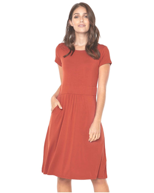 Beth Dress Rust - Up to 3XL - Size 20-22