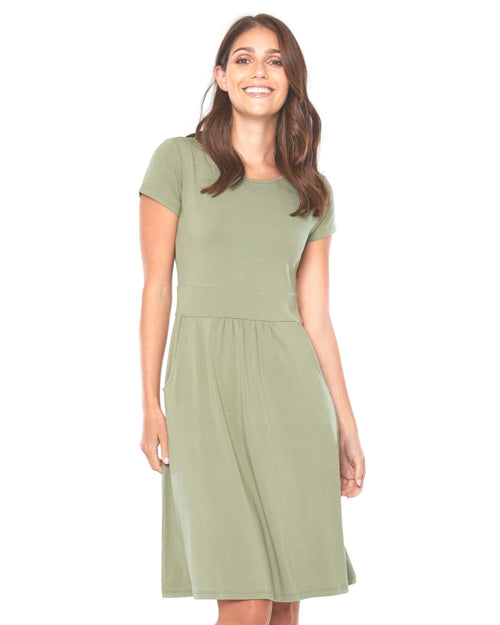 Beth Dress Sage - Up to 3XL - Sizes 20-22