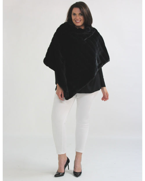 Super Soft Poncho - Black