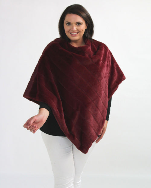Super Soft Poncho - Burgundy