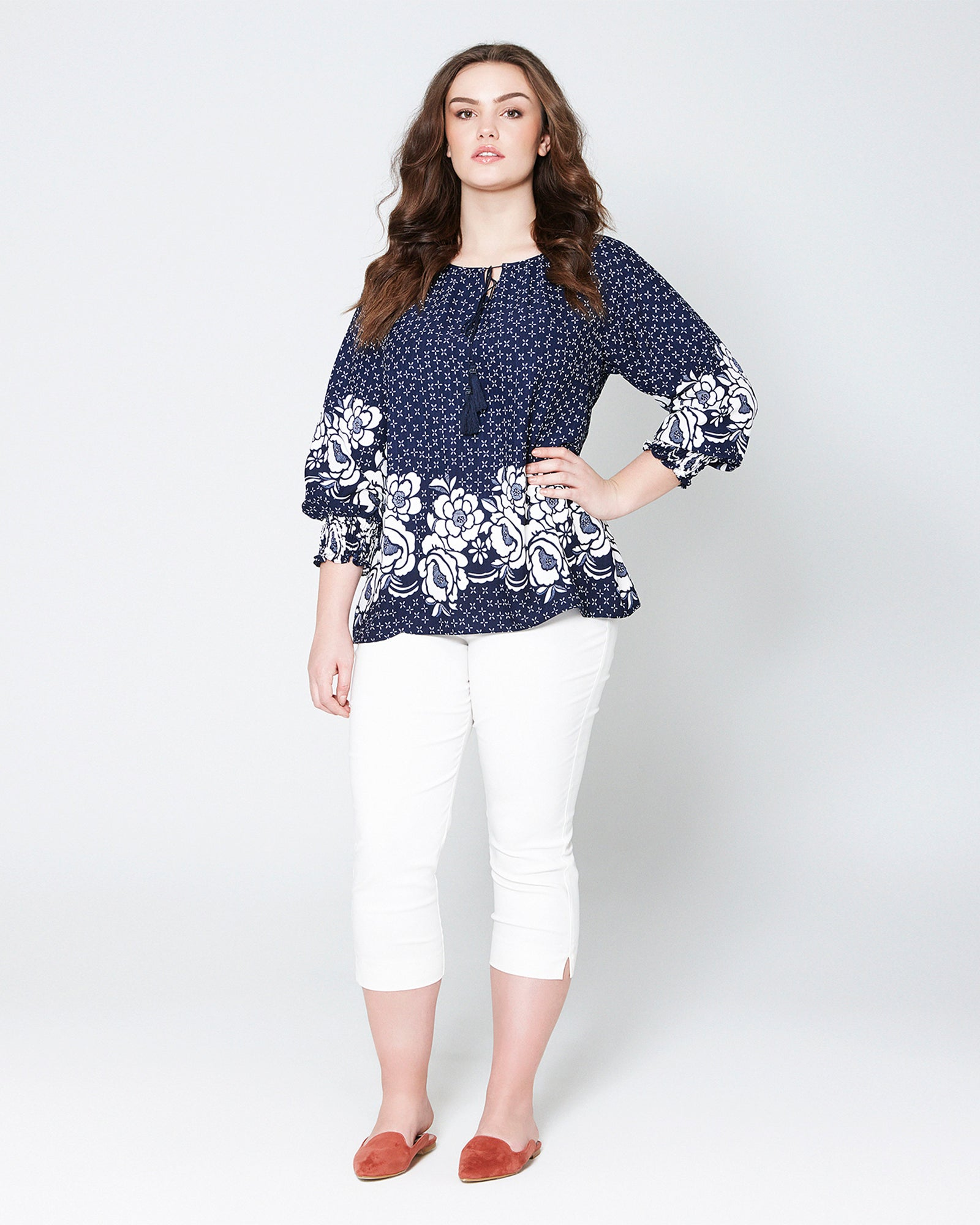 cd1359e348 Printed Peasant Top by MS. READ Malaysia (plus size clothing ...