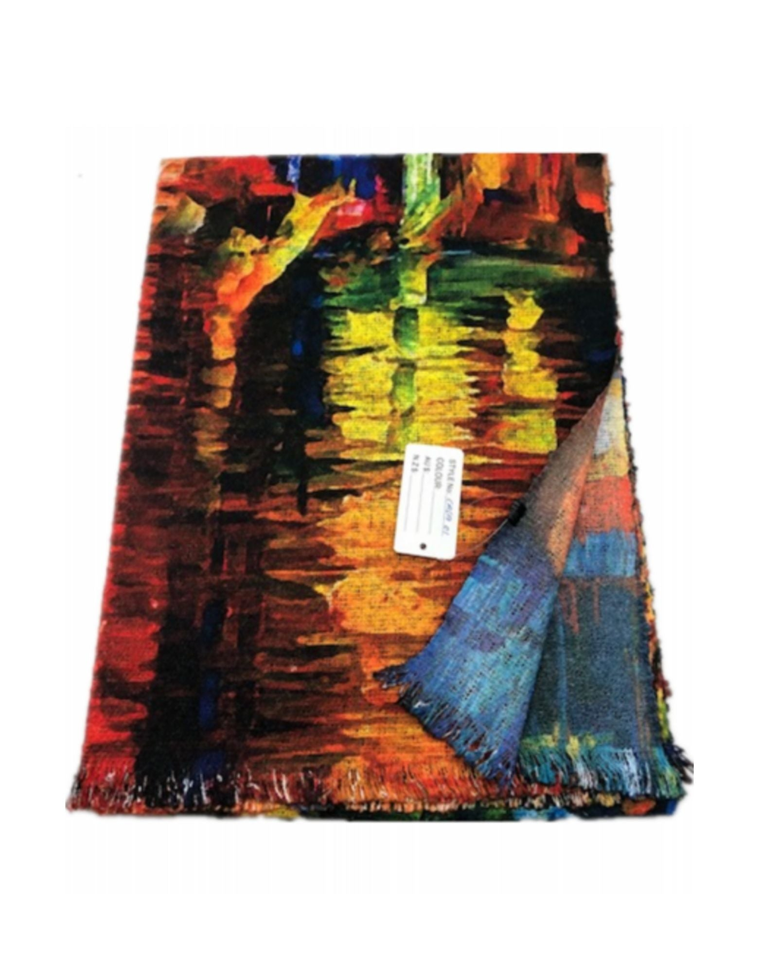 Cotton / Wool  Lightweight Reversible Scarf Brights