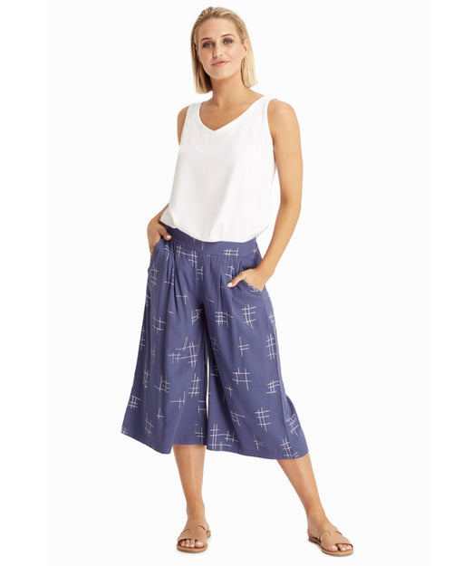 Woven Bamboo Culottes - Print-size 10 -22