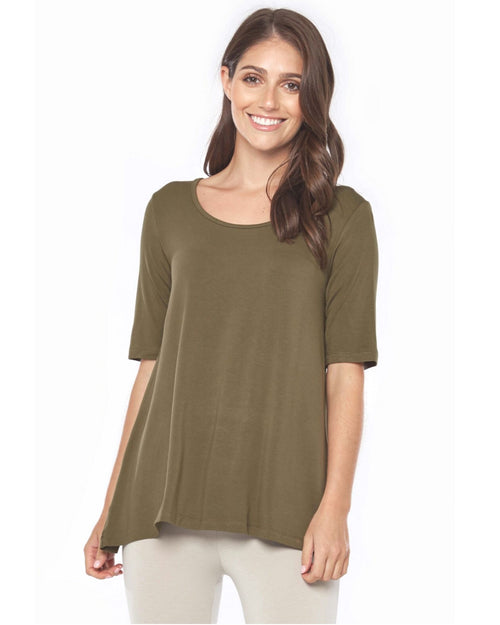 Carter Tunic - Dark Olive - Up To 3XL- Size 20-22