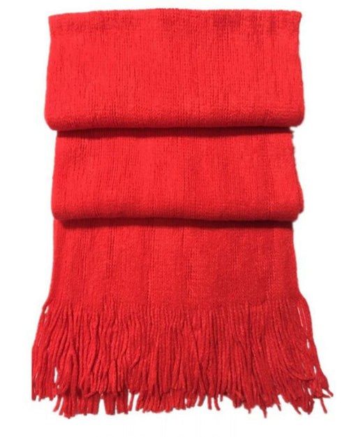 Thick Plain Scarf -Red Last One