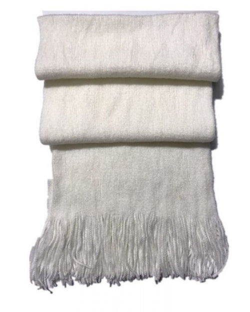 Thick Plain Scarf -Cream Last One
