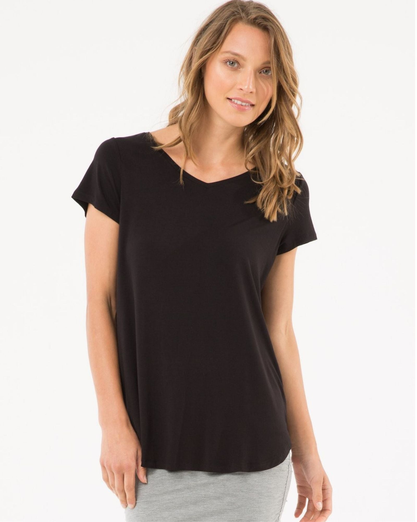 Bamboo Eadie Top -Black Size 10-24