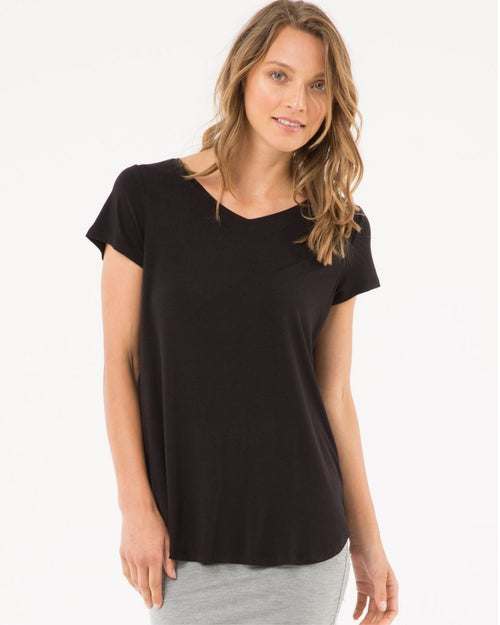 Bamboo Eadie Top -Black Up To 4XL