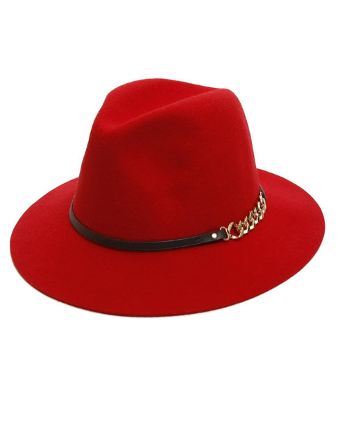 100% Wool Red Felt Hat