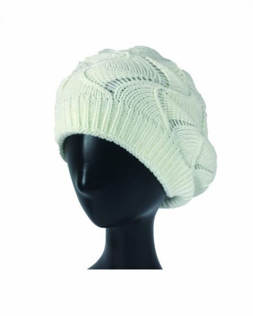 Cream Cable Knit Hat