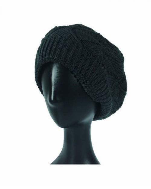 Charcoal Cable Knit Hat