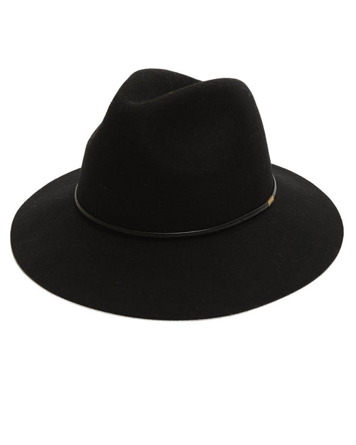 100% Wool Black Hat