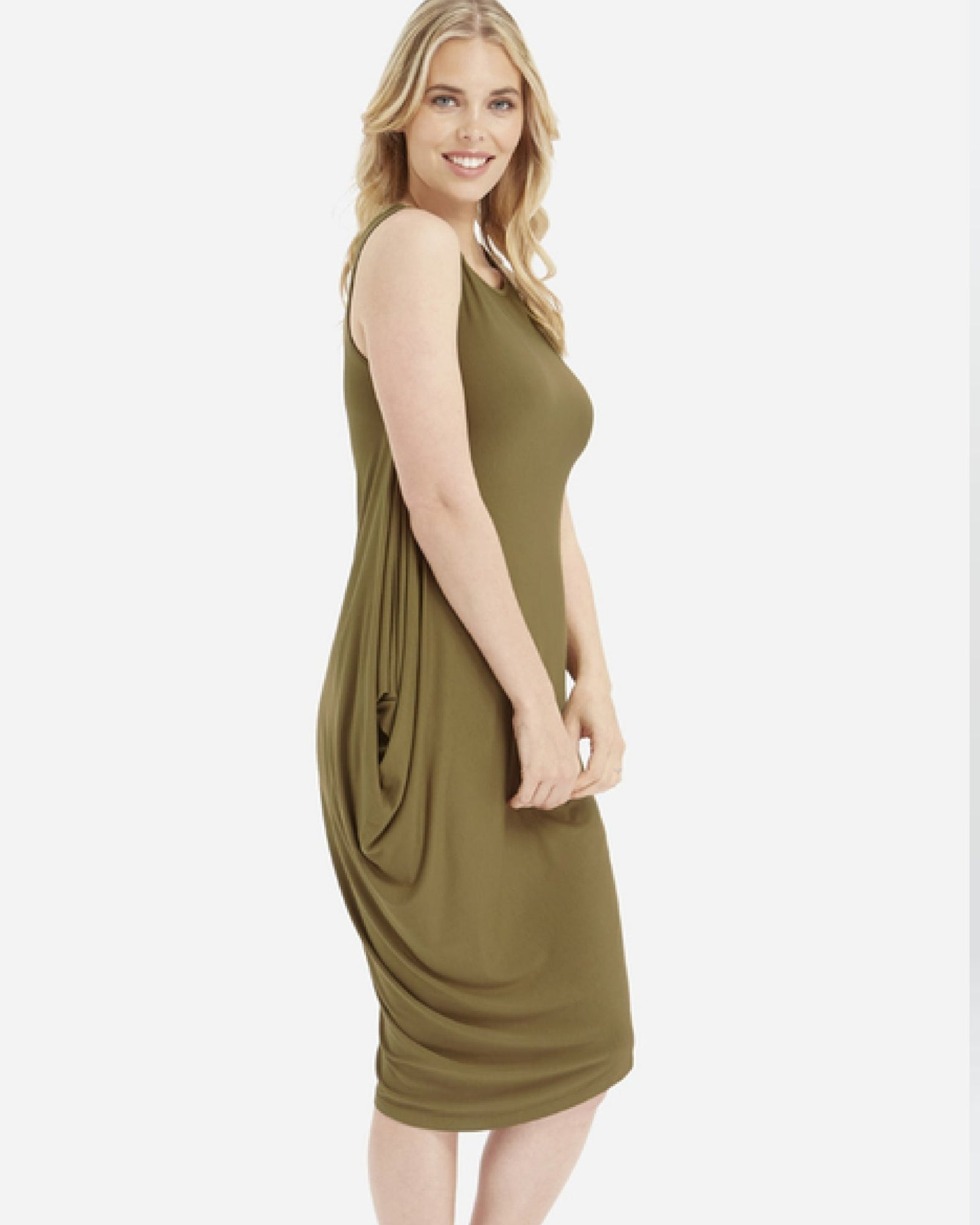 Sasha Dress - Khaki