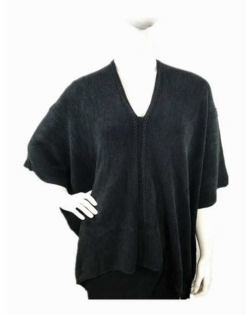Pull Over Poncho - Black Size 18