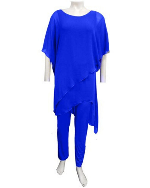 Tilly Chiffon Jumpsuit - Cobalt  - Sizes 10-18