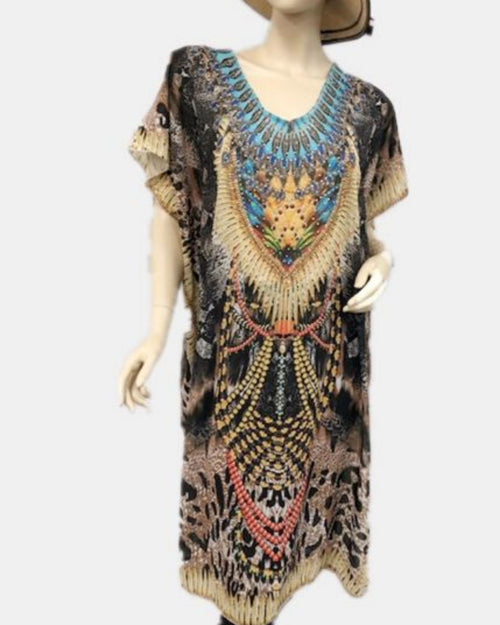 Animal Jewels Kaftan Long - Size 14-18