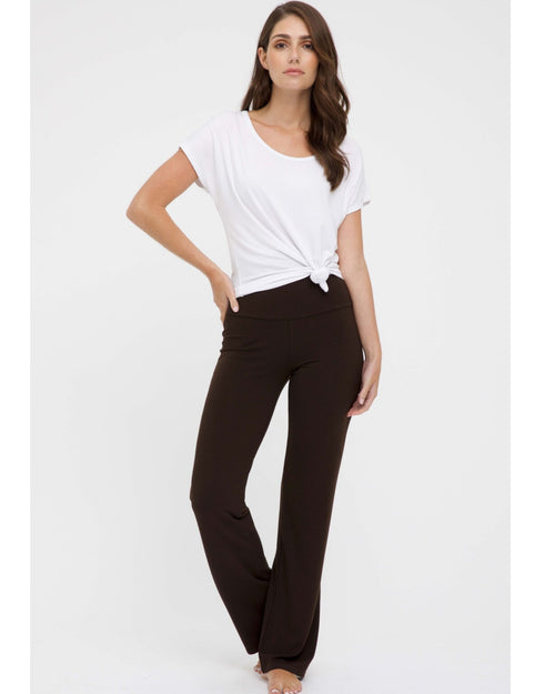 Essential Bamboo Pants- Chocolate - Size 12-24 Petite Length