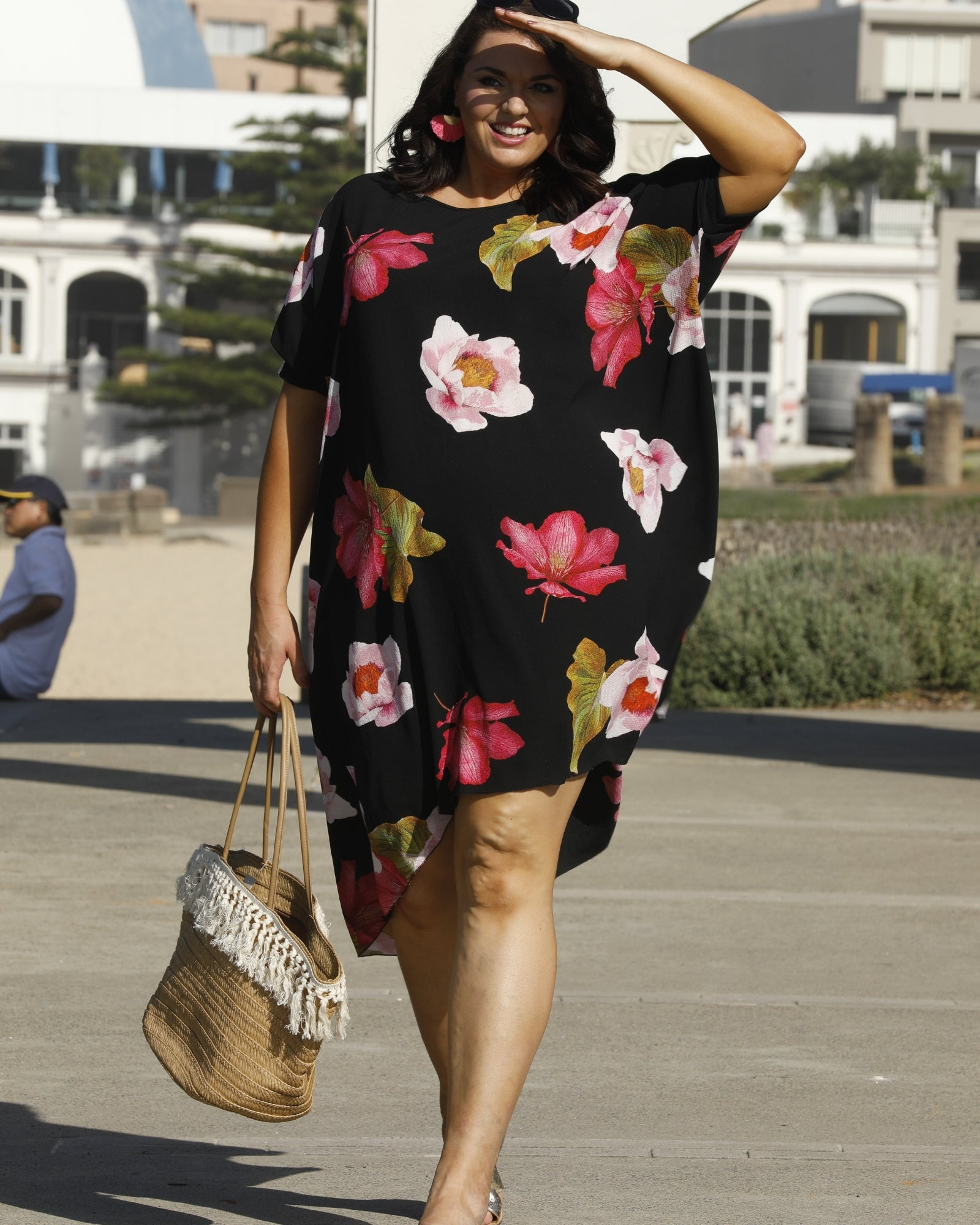 Pretty Floral Hi Lo Dress