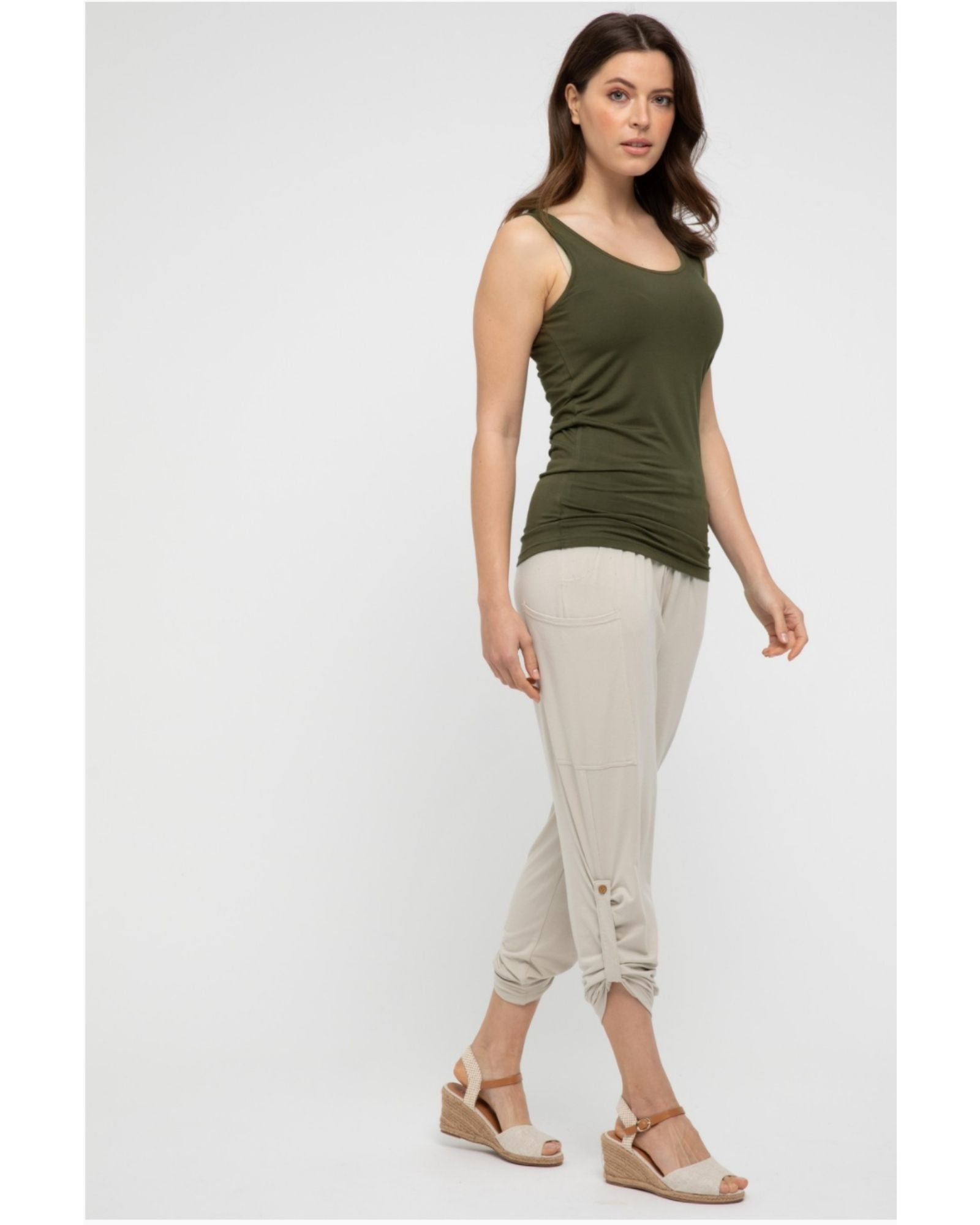 Bamboo Vest - Olive -Size 10-22
