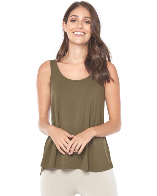 Relaxed Singlet -Olive - Up To 3XL - Size 20-22