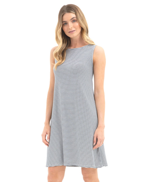 Bamboo Adele  Dress - Stripe Size 10 -18