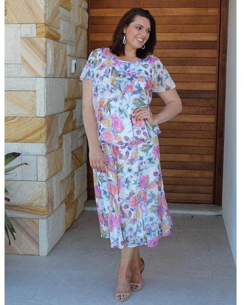 Heidi Floral Top & Skirt Set
