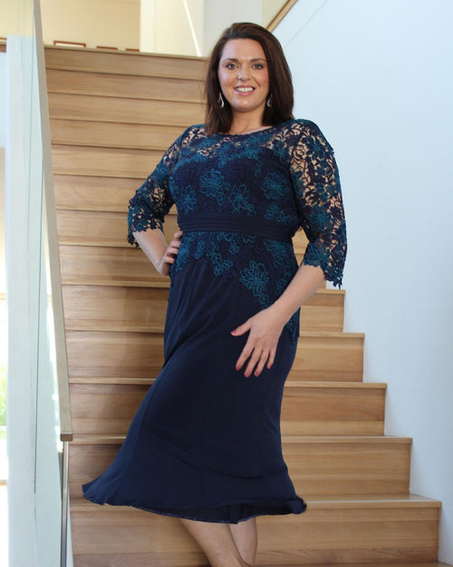 Ellen Evening Dress - Navy