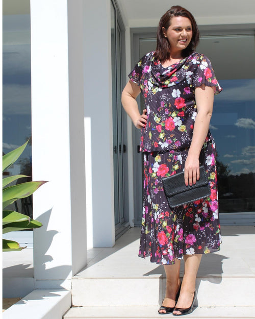 Suzie Floral Top & Skirt Set