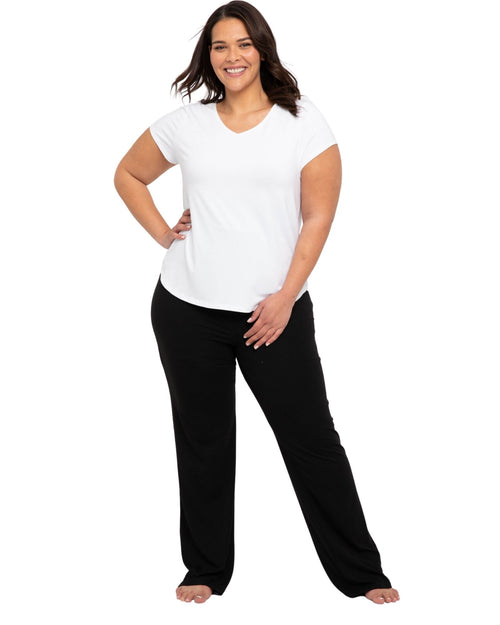 Essential Bamboo Pants- Black - Size 10-24 Long Length