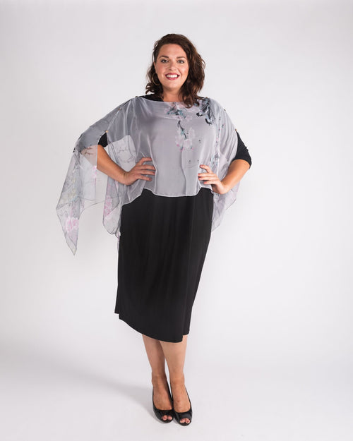 Grey Chiffon Cover up