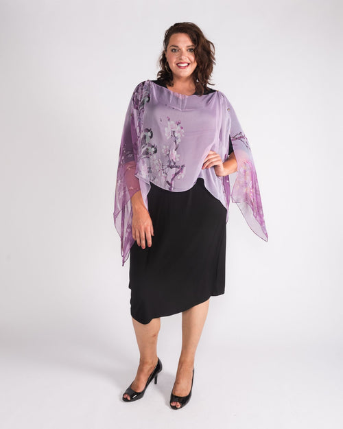 Purple Chiffon Cover up