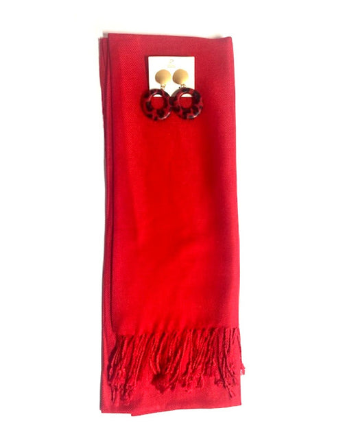 2 Piece Gift Set Scarf & Earrings - Save $7.95