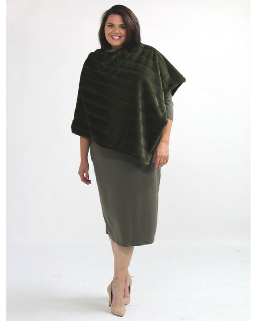 Super Soft Poncho - Green