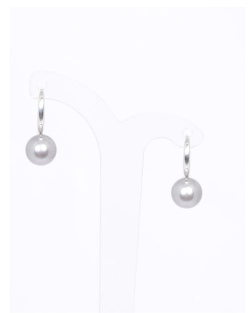 Grey Pearl Comfort Hook Earrings