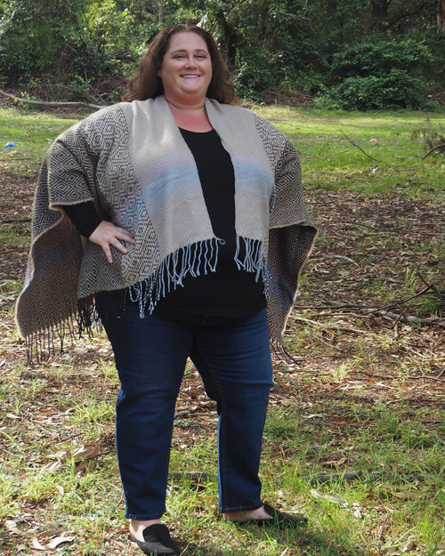 Poncho Wrap - Taupe