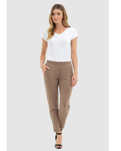 Bamboo Peggy Trouser - Mocha - Size 10-18
