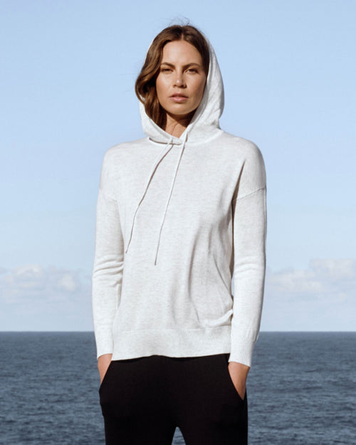 Bamboo Knit Hoodie - Soft Marle