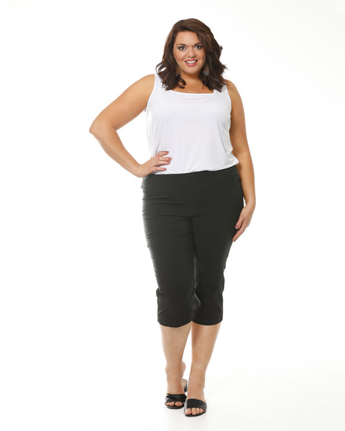 Grace Crop Black Super Stretch Pants - Size 12-26