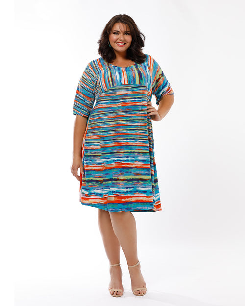Painted Stripe Dress